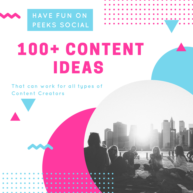 100+ Peeks Social Post Ideas